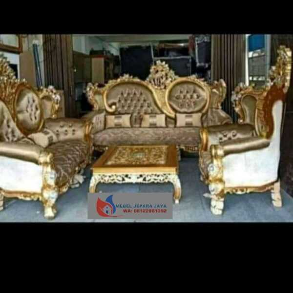 KURSI TAMU SOFA PENCENG GOLD FURNITURE JEPARA