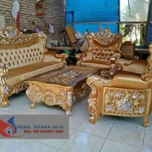 KURSI TAMU SOFA UKIR FULL GOLD FURNITURE JEPARA
